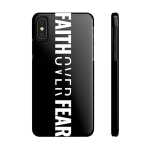 Faith Over Fear - Vertical Case (Black)