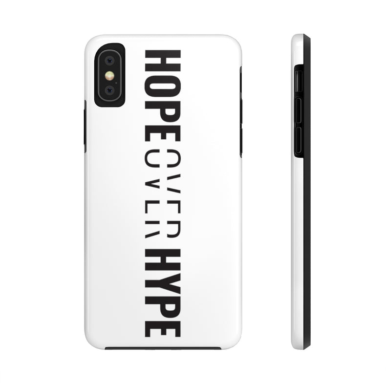 Hope Over Hype - Tough Phone Case (White) - Overwear Gear