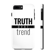 Load image into Gallery viewer, Truth Over Trend - Tough Phone Case (White) - Overwear Gear