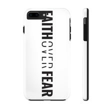Load image into Gallery viewer, Faith Over Fear - Tough Phone Case (White) - Overwear Gear