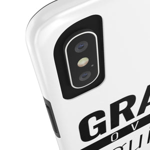 Grace Over Guilt - Tough Phone Case (White) - Overwear Gear