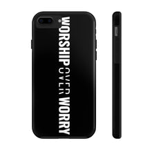 Load image into Gallery viewer, Worship Over Worry - Tough Phone Case (Black) - Overwear Gear