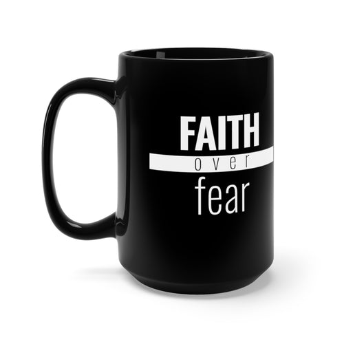 Faith Over Fear - Red Bar Mug - Overwear Gear