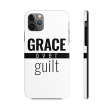 Load image into Gallery viewer, Grace Over Guilt - Tough Phone Case (White) - Overwear Gear