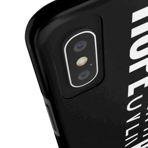 Hope Over Hype - Tough Phone Case (Black) - Overwear Gear