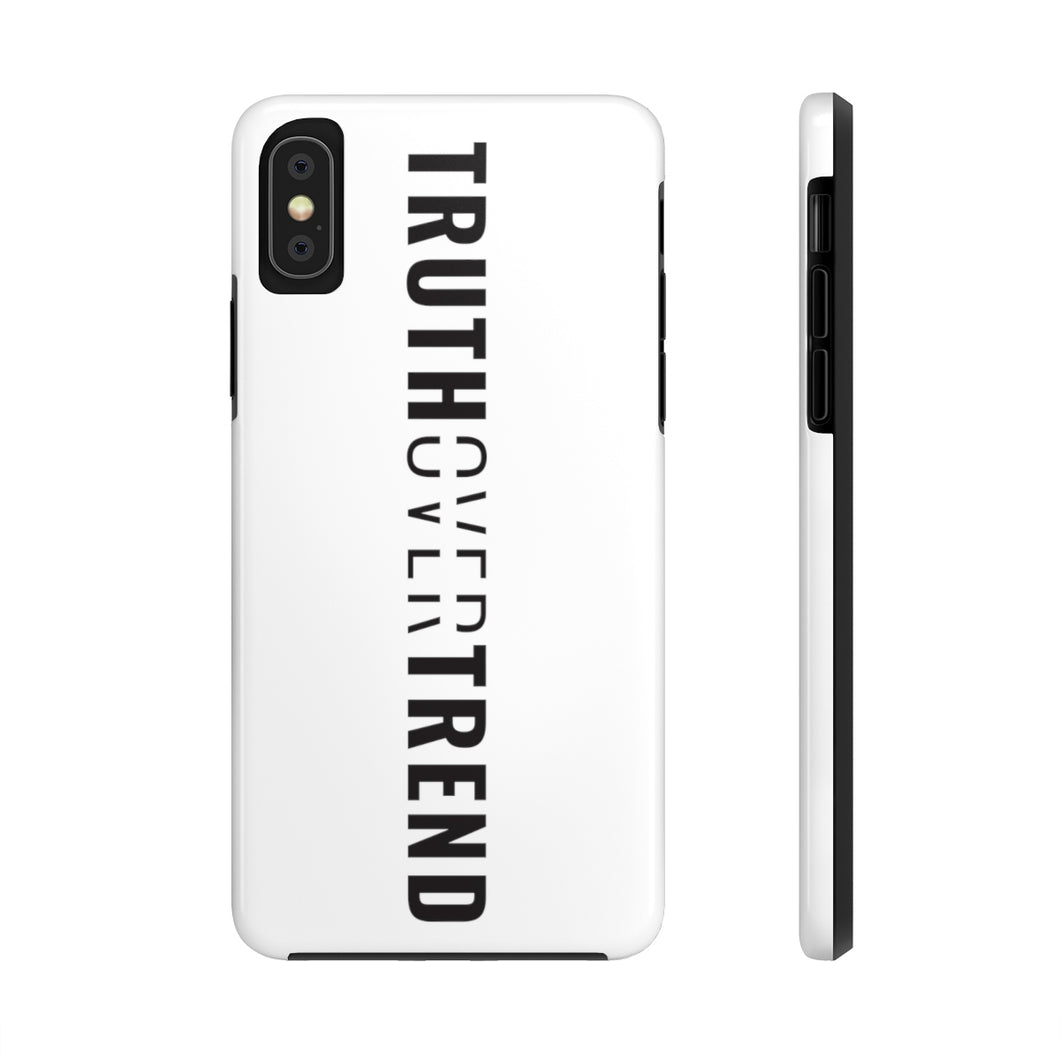 Truth Over Trend - Tough Phone Case (White) - Overwear Gear