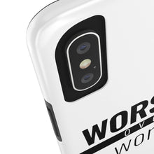Load image into Gallery viewer, Worship Over Worry - Tough Phone Case (White) - Overwear Gear