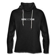 Load image into Gallery viewer, Faith Over Fear - Lightweight Hoodie - charcoal gray