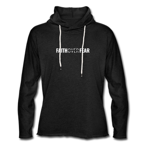 Faith Over Fear - Lightweight Hoodie - charcoal gray