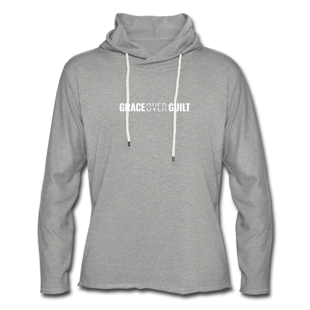 Grace Over Guilt - Lightweight Hoodie - heather gray