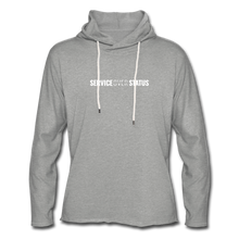 Load image into Gallery viewer, Service Over Status - Lightweight Hoodie - heather gray