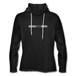 Service Over Status - Lightweight Hoodie - charcoal gray