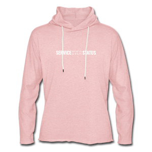 Service Over Status - Lightweight Hoodie - cream heather pink