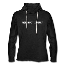 Load image into Gallery viewer, Worship Over Worry - Lightweight Hoodie - charcoal gray