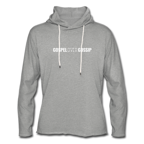Gospel Over Gossip - Lightweight Hoodie - heather gray