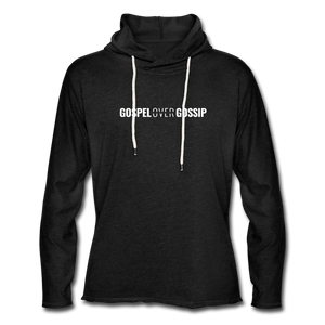 Gospel Over Gossip - Lightweight Hoodie - charcoal gray