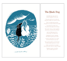 Load image into Gallery viewer, Black Dog Art Print - SaltWalls