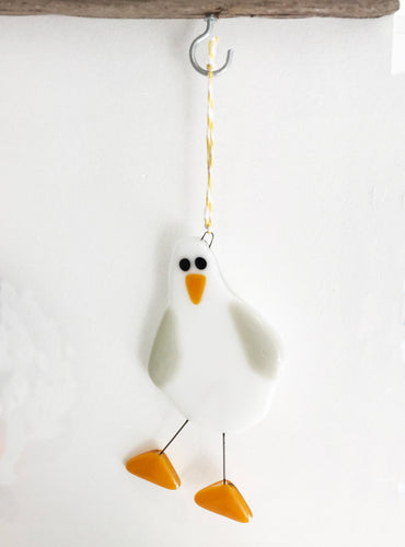 Fused Glass Seagul - SaltWalls