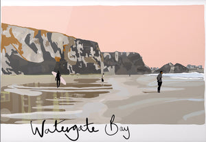Watergate Bay Dusk - SaltWalls