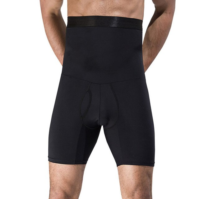 Male Body Shaper High Waist Boxer Shapewear Compression