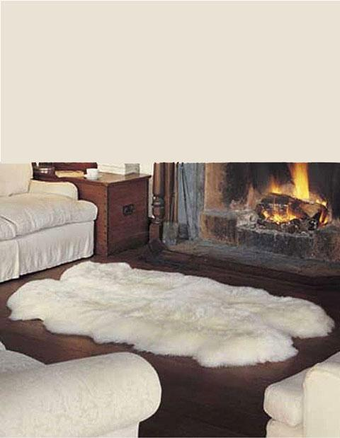 Quad Long Wool Sheepskin Rug 180cm - Ivory