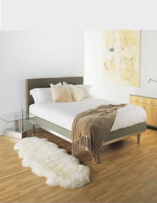 Double Long Wool Sheepskin Rug 180cm