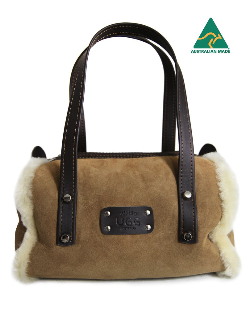 Sheepskin Mini Duffle Bag