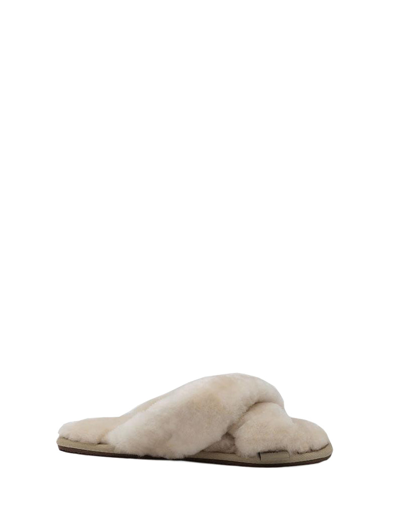 Kristina Crossover Sheepskin Slipper