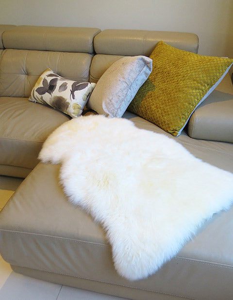 Single Long Wool Sheepskin Rug 95cm