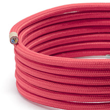 Load image into Gallery viewer, Red Round Fabric Lighting Cable | 3 Core
