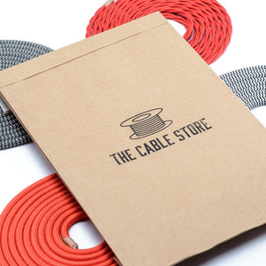Black Twisted Fabric Lighting Cable | 3 Core - TheCable.Store