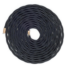 Load image into Gallery viewer, Black Twisted Fabric Lighting Cable | 3 Core - TheCable.Store
