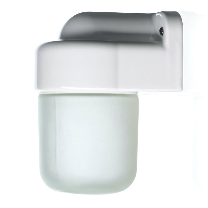 Ceramic Industrial IP54 Wall Light - Frosted Glass - TheCable.Store