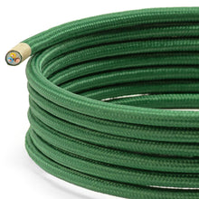 Load image into Gallery viewer, Dark Green Round Fabric Lighting Cable | 3 Core - TheCable.Store