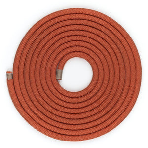 Dark Orange Round Fabric Lighting Cable | 3 Core - TheCable.Store