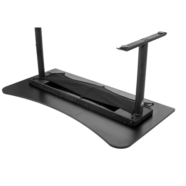 Arozzi Arena Gaming Desk - Black ARENA-NA-BLACK upside down view