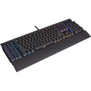 Corsair K95 RGB PLATINUM Mechanical Gaming Keyboard - CHERRY MX Speed CH-9127114-NA side angular view