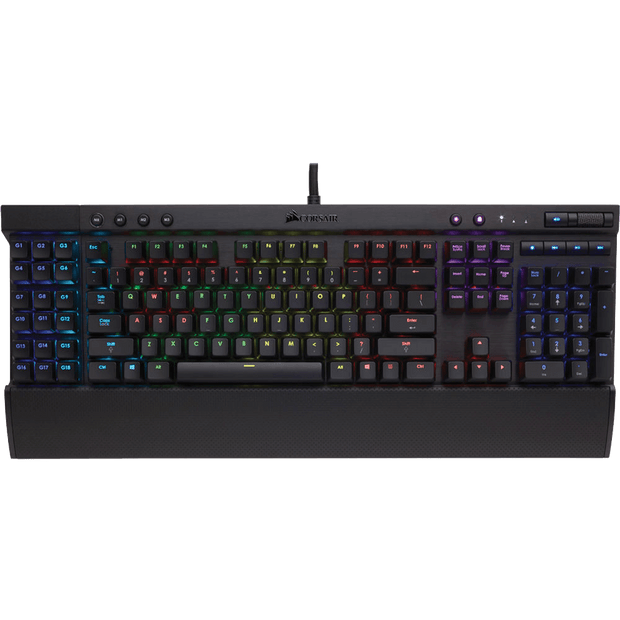 Corsair K95 RGB PLATINUM Mechanical Gaming Keyboard - CHERRY MX Speed CH-9127114-NA top view