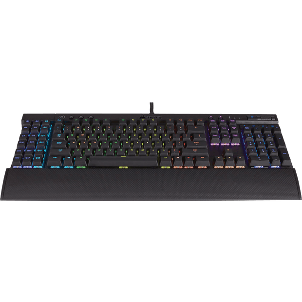 Corsair K95 RGB PLATINUM Mechanical Gaming Keyboard - CHERRY MX Speed CH-9127114-NA top angular view