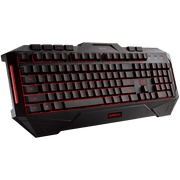 ASUS Cerberus Gaming Keyboard CerberusKeyboard red angular view