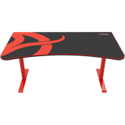 Arozzi Arena Gaming Desk - Red ARENA-NA-RED front view