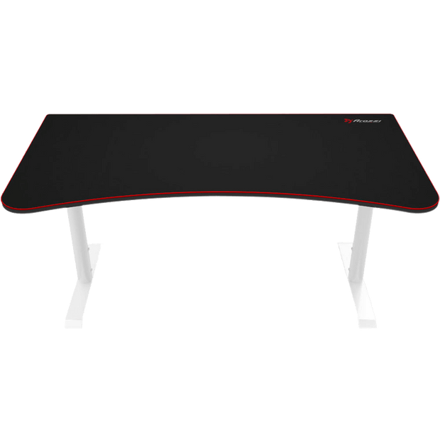 Arozzi Arena Gaming Desk - White ARENA-NA-WHITE front view