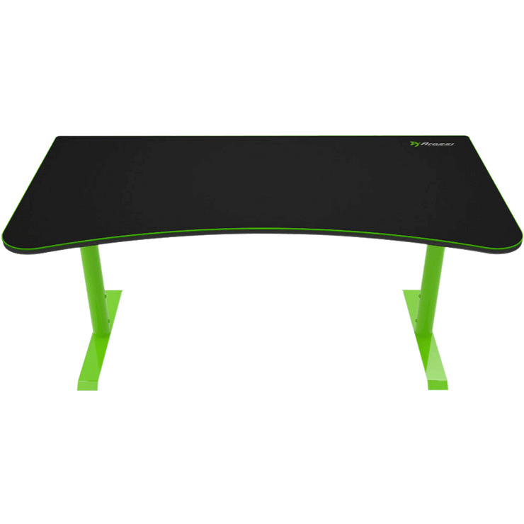 Arozzi Arena Gaming Desk - Green ARENA-NA-GREEN front view