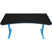 Arozzi Arena Gaming Desk - Blue ARENA-NA-BLUE front view