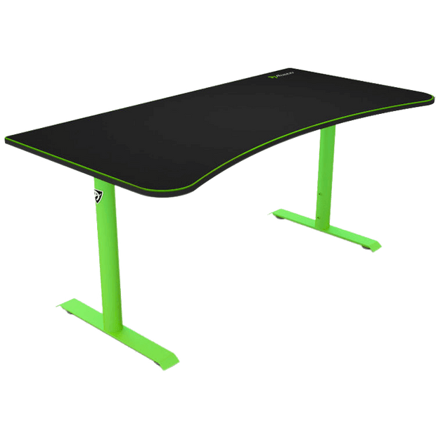 Arozzi Arena Gaming Desk - Green ARENA-NA-GREEN side view