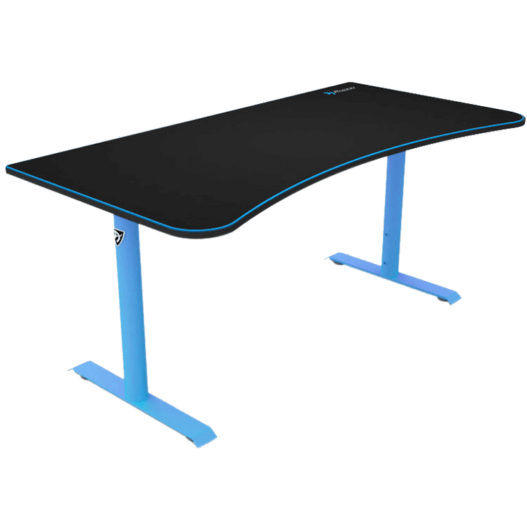 Arozzi Arena Gaming Desk - Blue ARENA-NA-BLUE side view