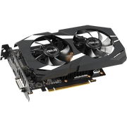 ASUS Dual GeForce GTX 1660 Ti OC Edition Graphics Card DUAL-GTX1660TI-O6G angular view