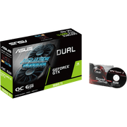 ASUS Dual GeForce GTX 1660 Ti OC Edition Graphics Card DUAL-GTX1660TI-O6G box cd view