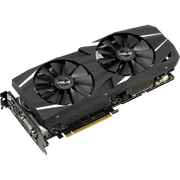 ASUS Dual GeForce RTX 2060 Graphics Card DUAL-RTX2060-6G angular fans view