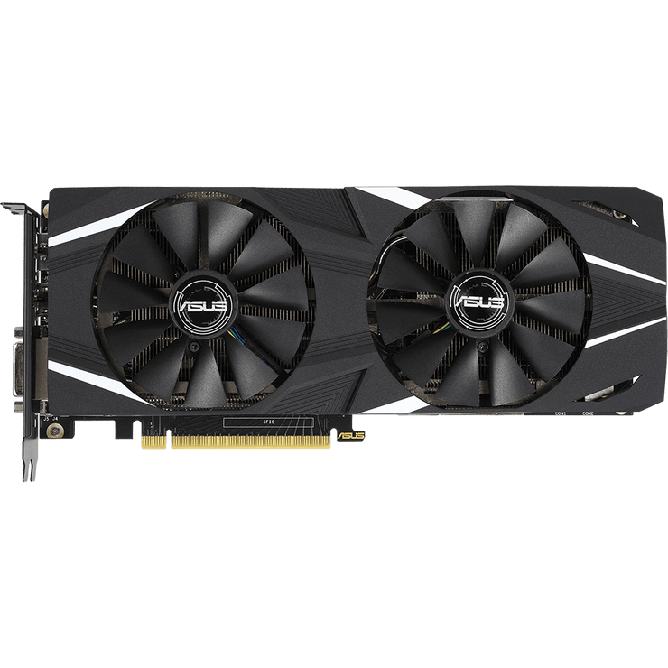 ASUS Dual GeForce RTX 2060 Graphics Card DUAL-RTX2060-6G  top fans view